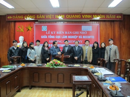 The full delegation to the signing ceremony in Hanoi, Vietnam