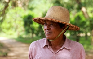 One of the local leaders who wanted to have community forests directly serve their village's needs.