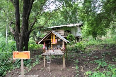Huai Hin Dam Spirit House.