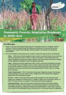 Community Forestry Adaptation Roadmaps in Asia – 2020